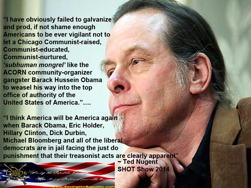 ted nugent obama machine gun