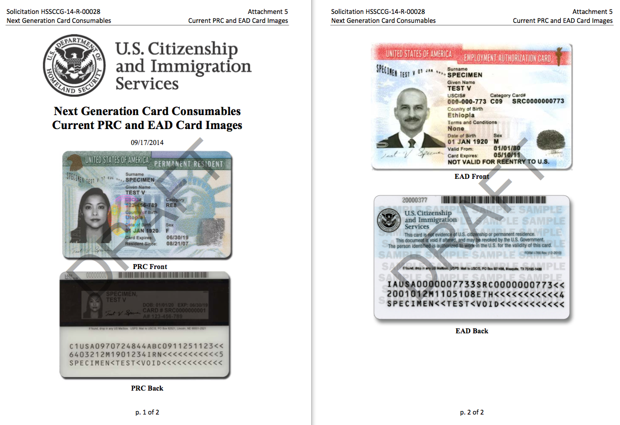 green card worker permit drafts