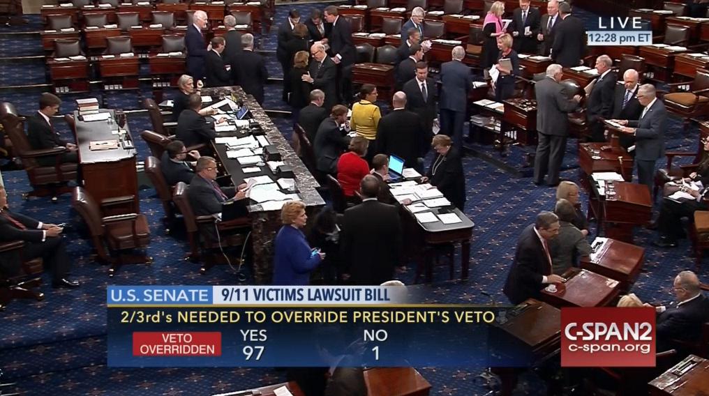 senate-votes-97-1-override-obama-911-veto-harry-reid-no-vote